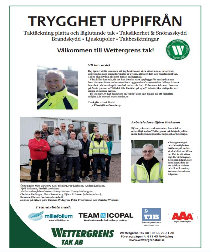 Wettergrens Taks nyheter 05 2013